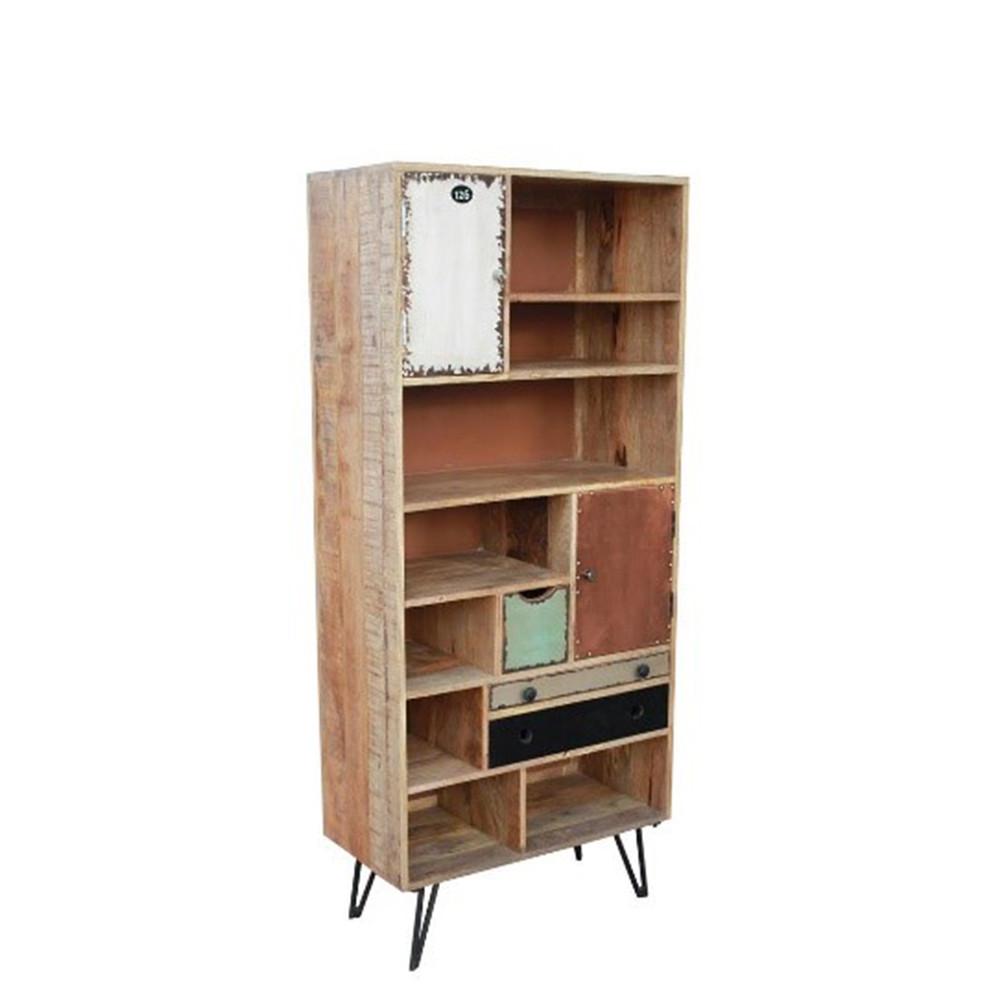 biblioth que vintage en bois multicolore fusion by drawer. Black Bedroom Furniture Sets. Home Design Ideas