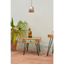Table de chevet vintage en bois ambiance cosy