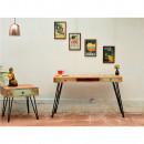 Table de chevet et console vintage en bois style Indien