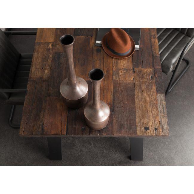 Table à manger vintage en orme recyclé et métal Crude Dutchbone