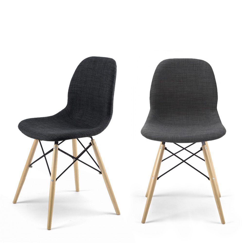 Chaise design en tissu style eames pied dsw doki doki soft for Chaise scandinave tissu