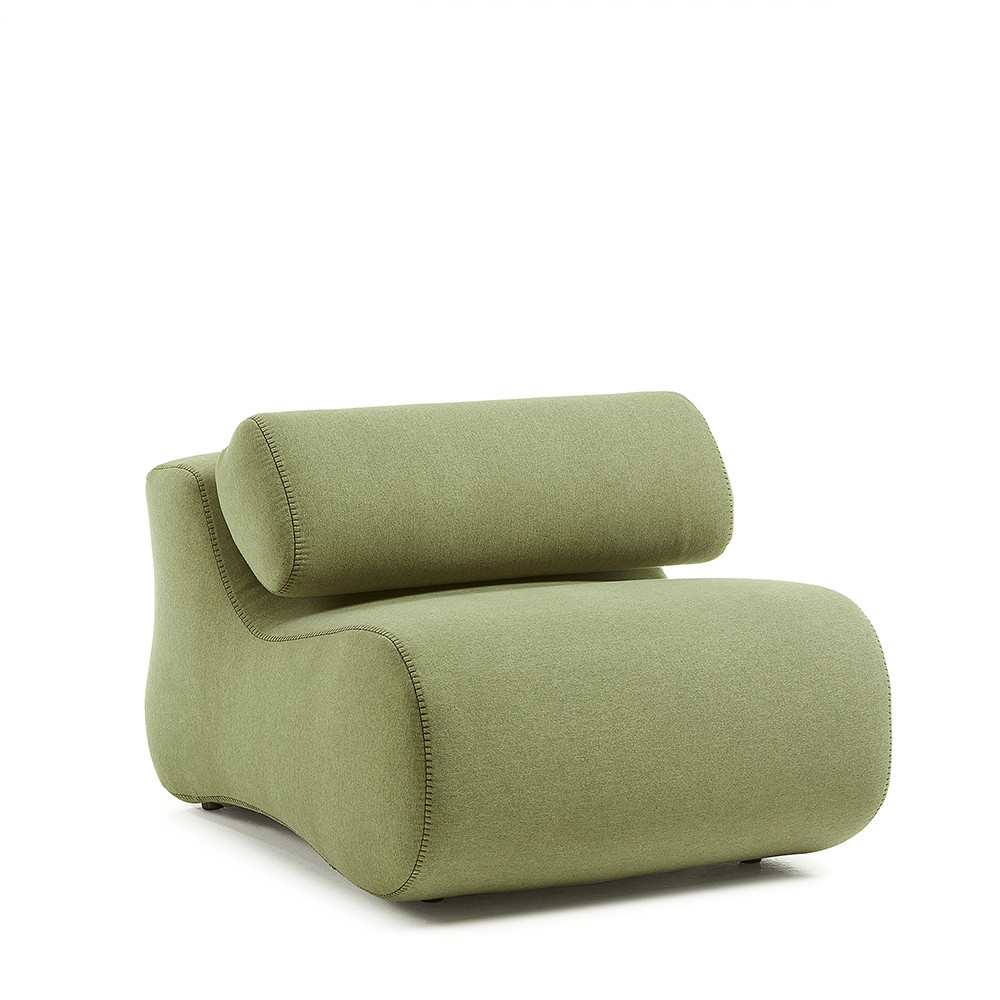 Fauteuil design organique tissu varese alia by drawer - Tissu fauteuil design ...