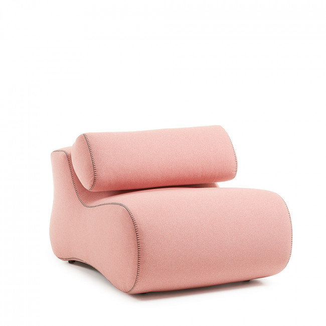 Fauteuil design organique tissu varese Alia