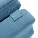Coutures Fauteuil design organique tissu varese Alia