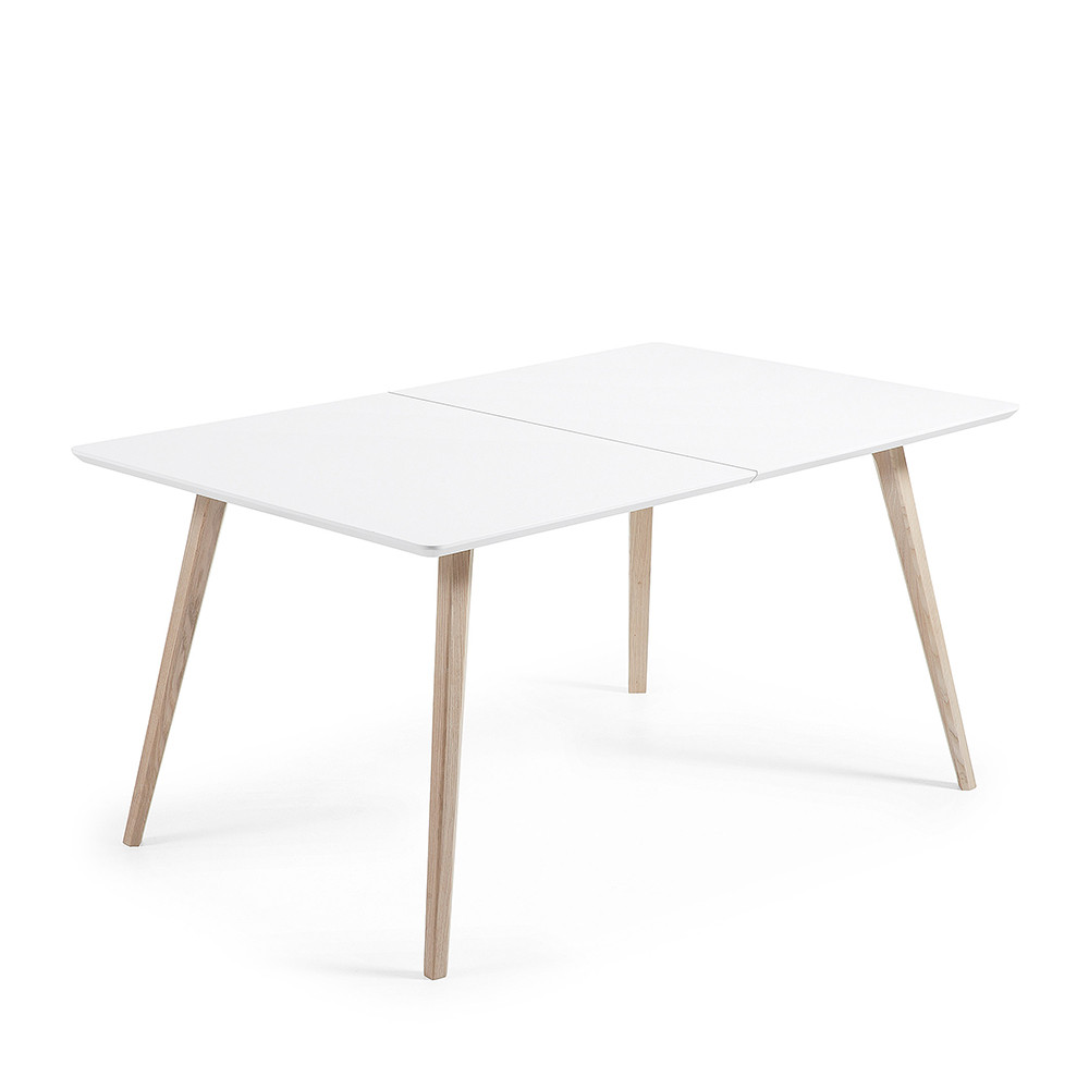 beautiful table jardin bois laque blanc contemporary