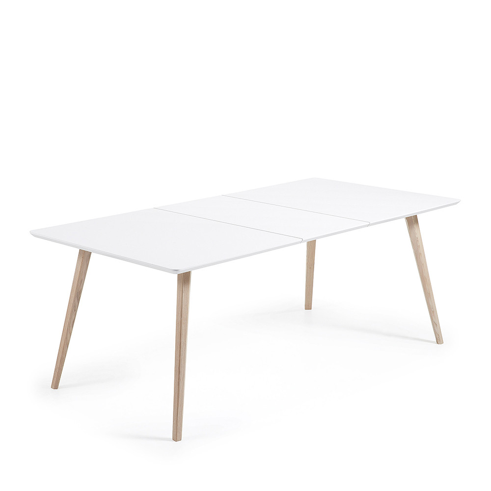 table design scandinave extensible bois laqu blanc joshua. Black Bedroom Furniture Sets. Home Design Ideas