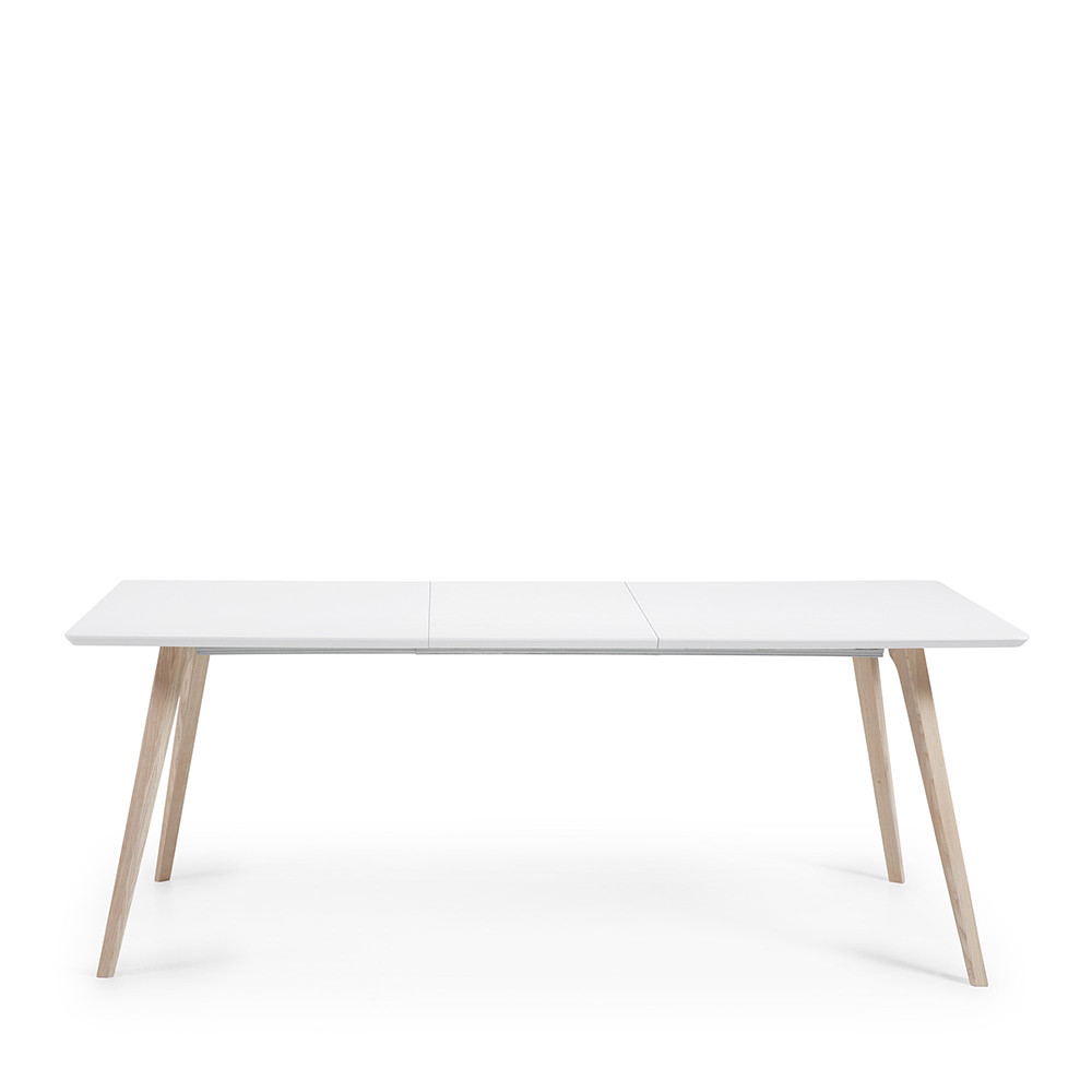 Table Design Scandinave Extensible Bois Laqu Blanc Joshua By Drawer