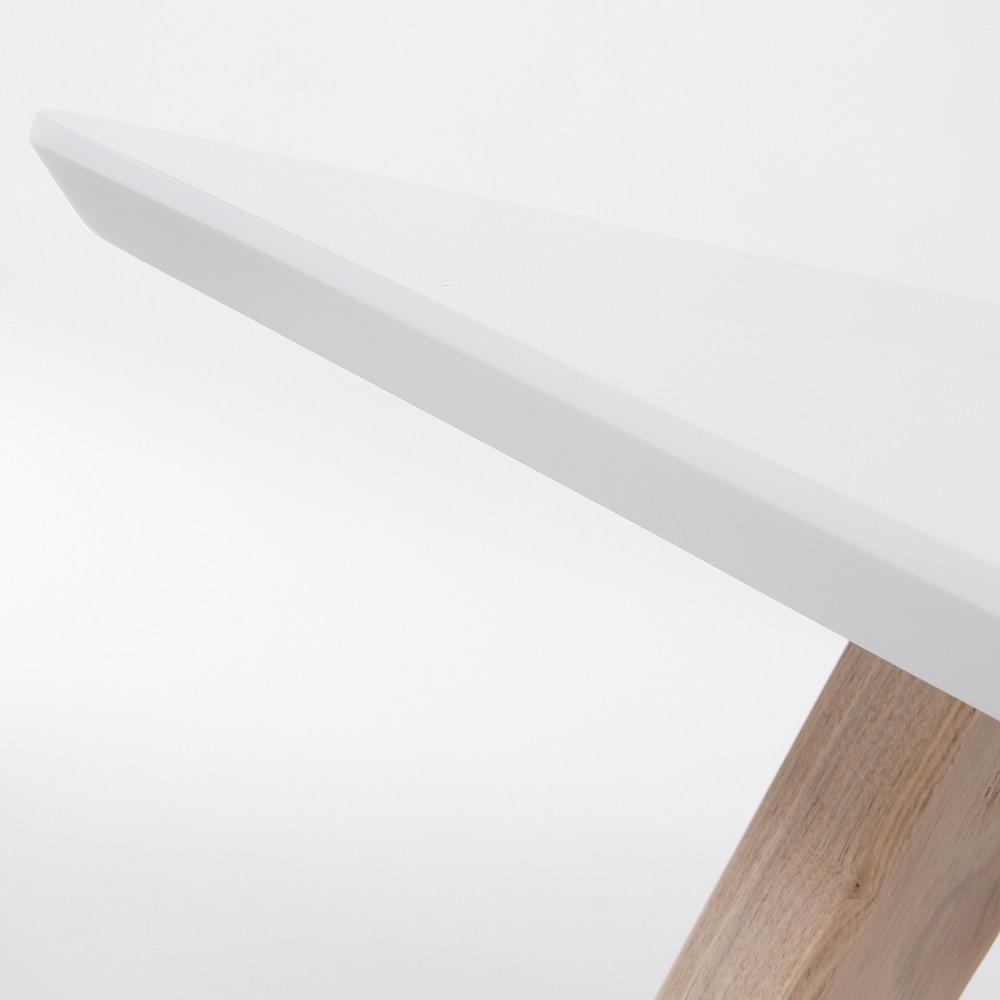 table design scandinave extensible bois laqu blanc joshua by drawer. Black Bedroom Furniture Sets. Home Design Ideas