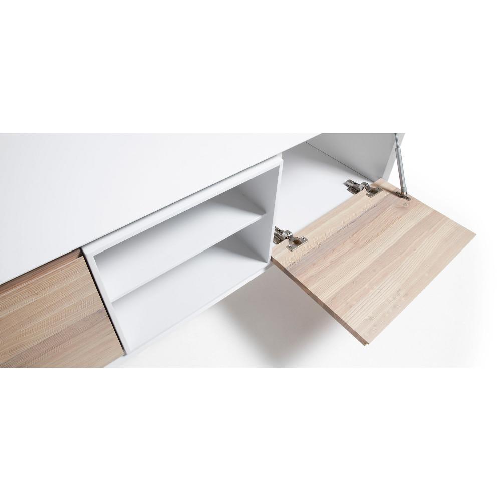 meuble tv design bois de fr ne portes battantes josh by drawer. Black Bedroom Furniture Sets. Home Design Ideas