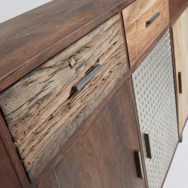 Buffet design bois de récup et métal Laurène