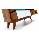Buffet design bois de manguier multicolore Robin