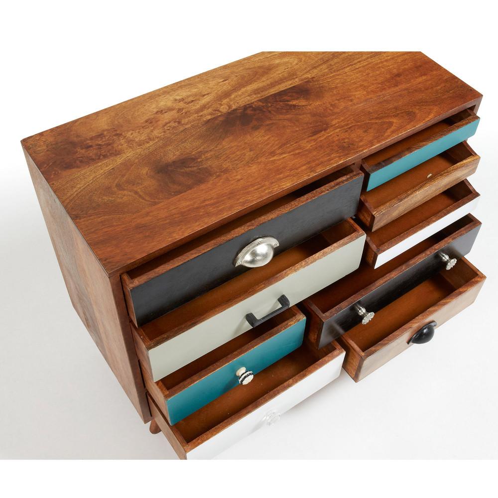 buffet design bois de manguier multicolore robin by drawer. Black Bedroom Furniture Sets. Home Design Ideas
