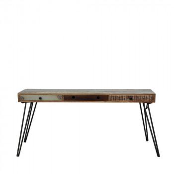 Console vintage en bois 3 tiroirs Fusion de Drawer