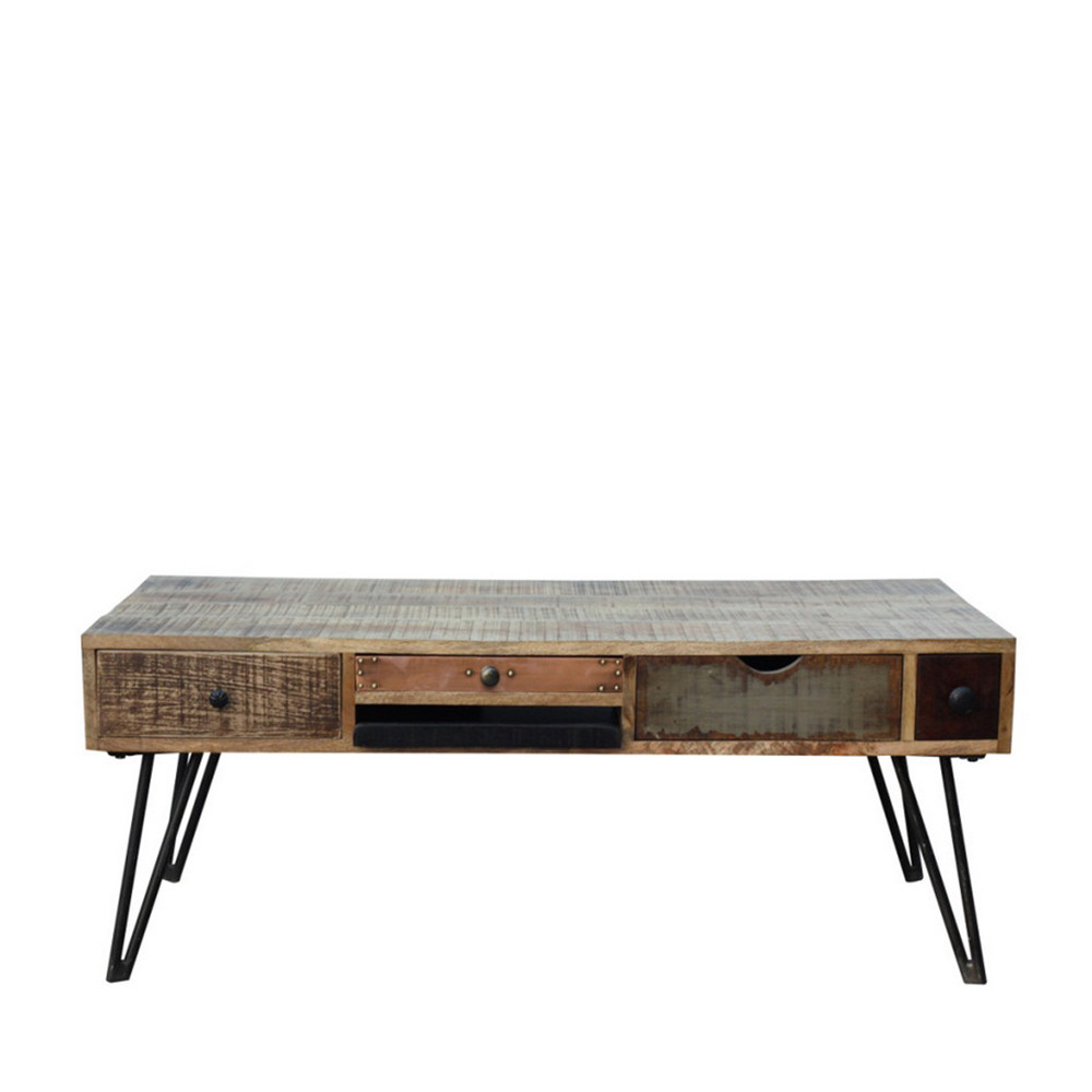 Table basse vintage en bois fusion by drawer Design interieur table basse en bois