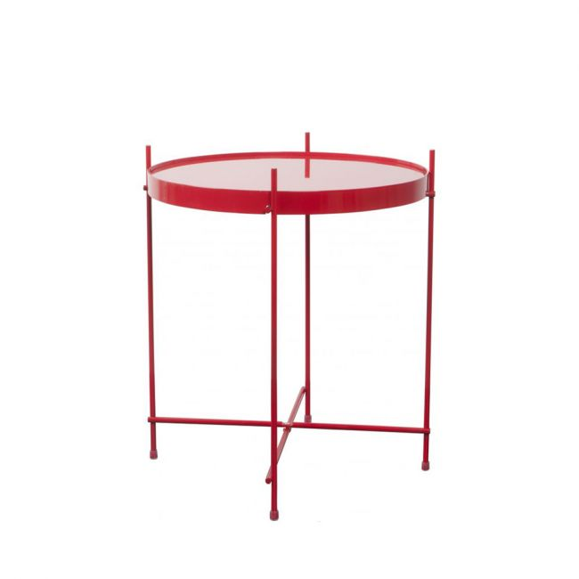 Table basse design ronde Cupid Small Zuiver rouge