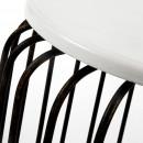 Table d'appoint métal noir et blanc Scott