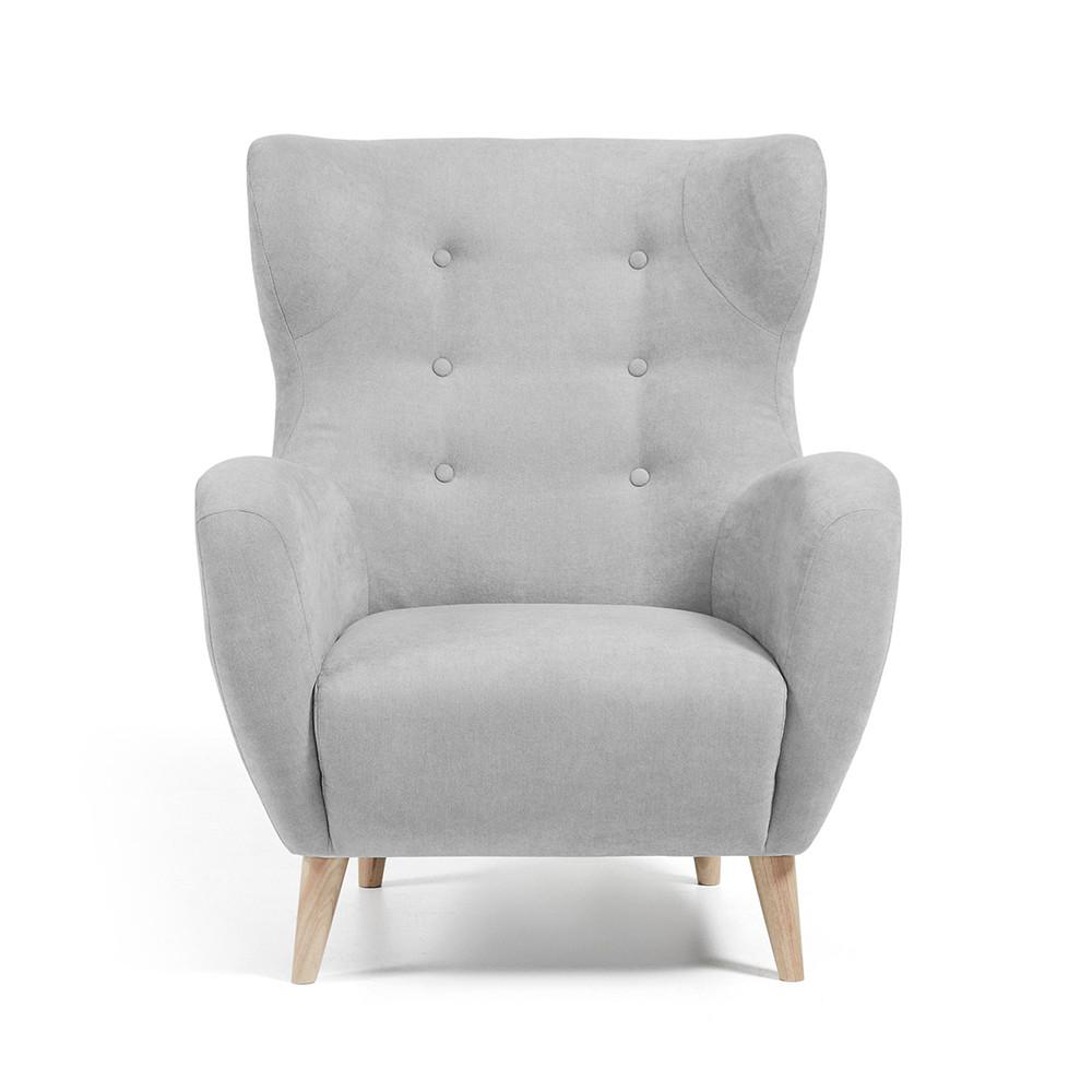 Fauteuil Scandinave Tissu Rembourré Avec Boutons Décoratifs Lord By - Petit fauteuil scandinave