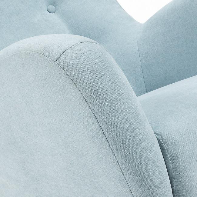 Fauteuil scandinave tissu rembourré avec boutons décoratifs Lord