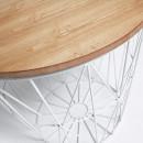 Table d'appoint en métal et bois naturel Isa