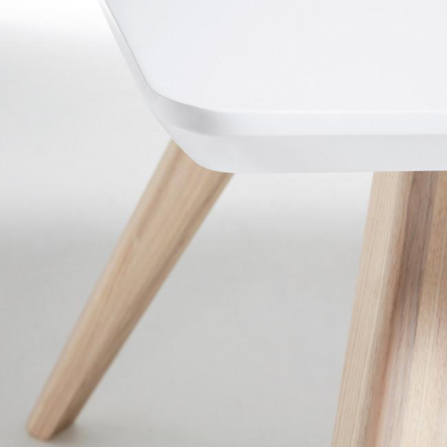Table basse rectangle bois frêne blanc mat Ben