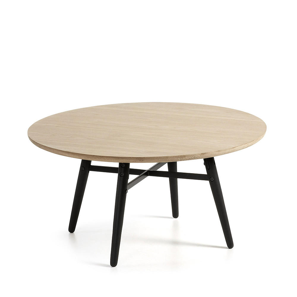 table basse ronde bois ch ne 80 ray by drawer. Black Bedroom Furniture Sets. Home Design Ideas