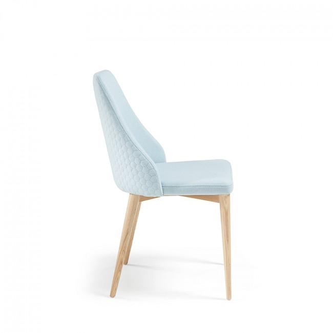 Lot de 2 chaises en tissu rembourré Flora
