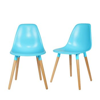Lot de 2 chaises bicolore Roef