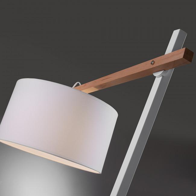 Lampadaire bois métal et coton Meg