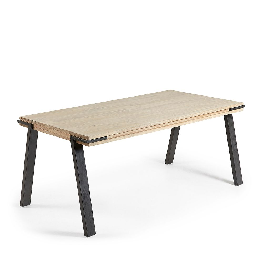 Table manger design industriel bois massif et m tal for Table a manger bois design