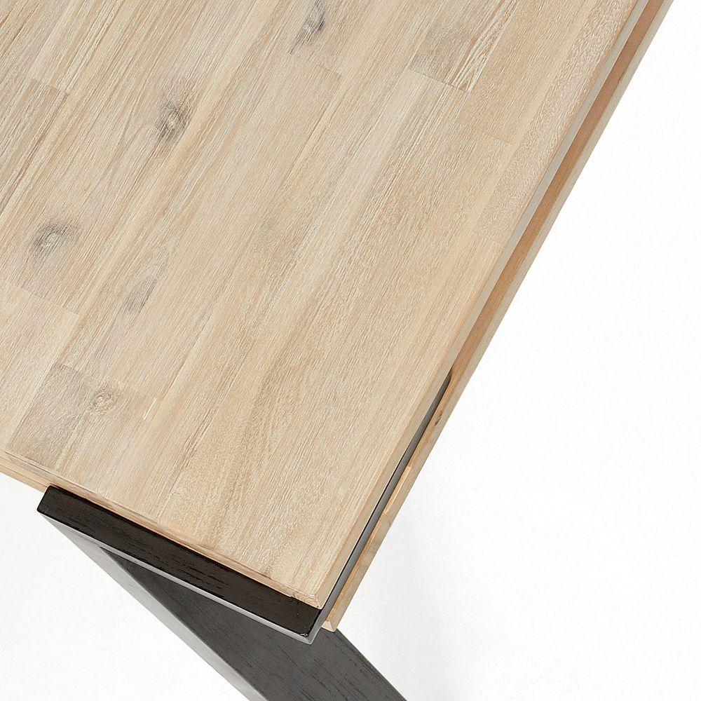 Table manger design industriel bois massif et m tal - Table a manger bois et metal ...