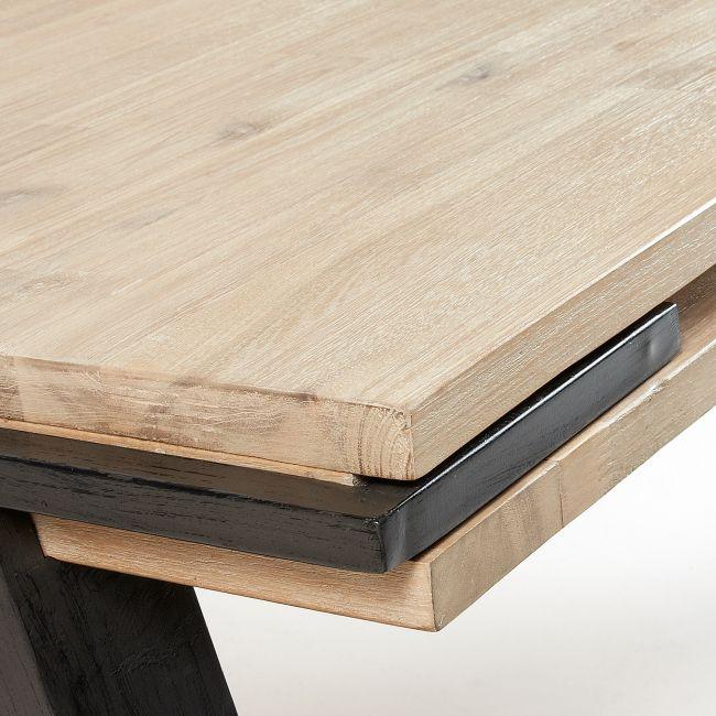 Table à manger design bois massif et métal Spike