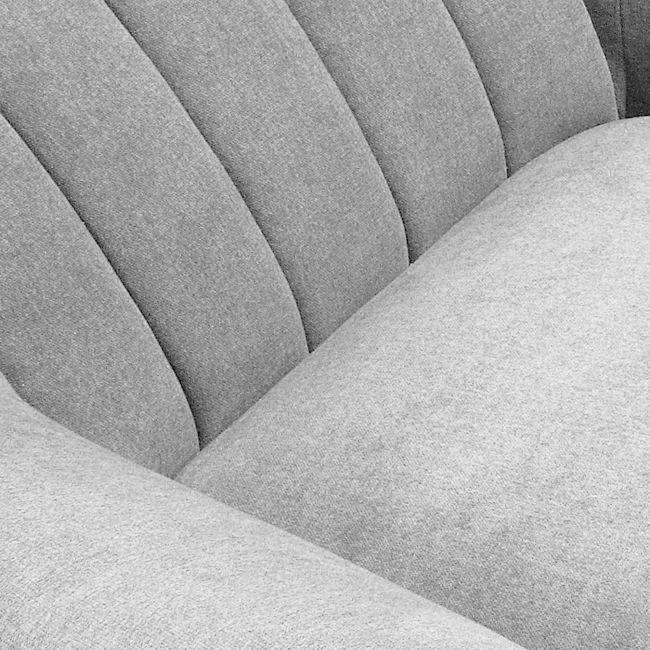 Fauteuil design scandinave tissu rembourré Georges