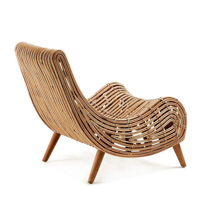 Fauteuil design en bois Dan