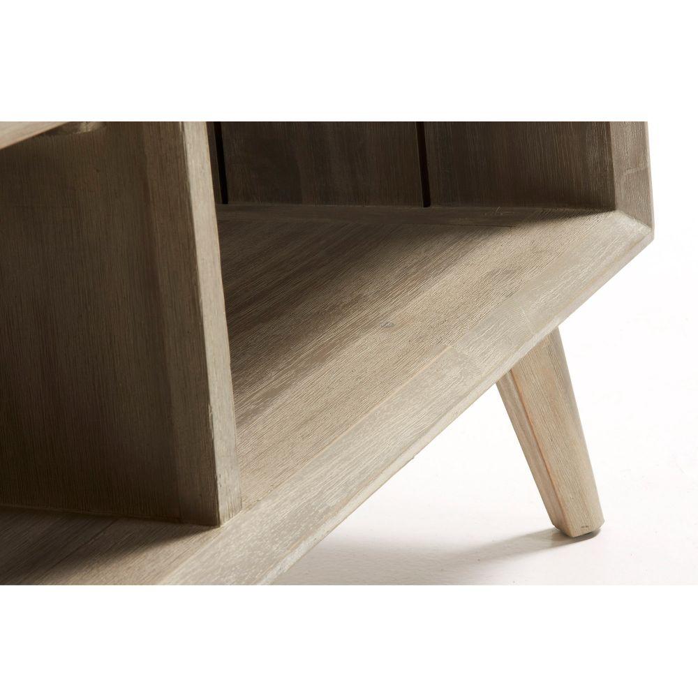 table basse rectangle bois massif gris clair sam by drawer. Black Bedroom Furniture Sets. Home Design Ideas