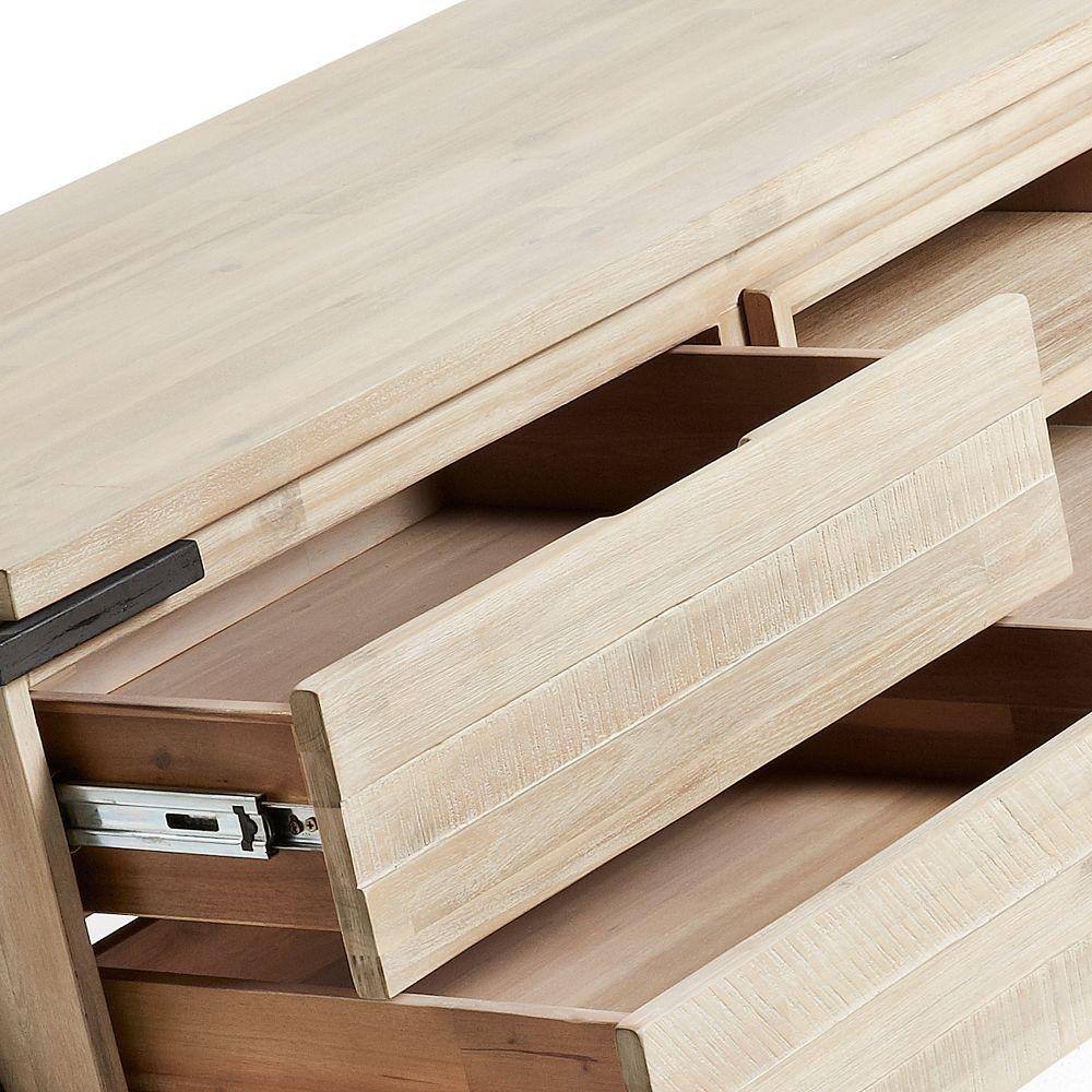 238d43432d1 Meuble TV bois massif et métal 2 tiroir 1 porte Spike by Drawer