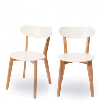 Lot de 2 chaises design scandinave Vitak
