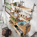 Etagère vintage en bois de sapin type échelle Emi