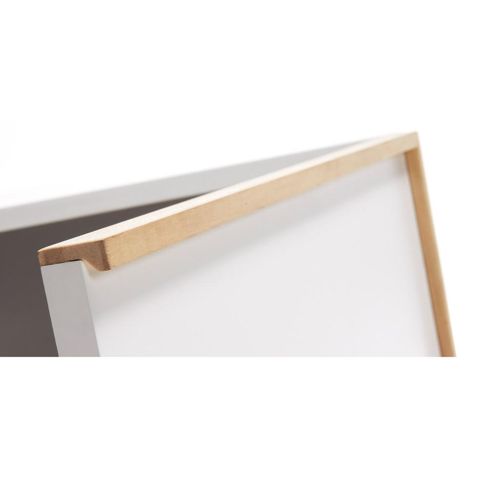 Buffet design bois laqu blanc 2 portes hector by drawer - Buffet blanc laque et bois ...