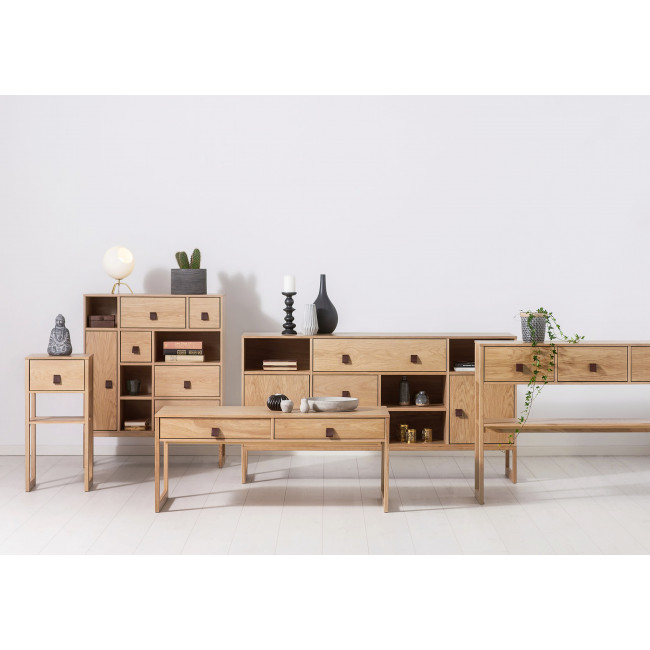 Buffet contemporain bois tiroirs Slussen