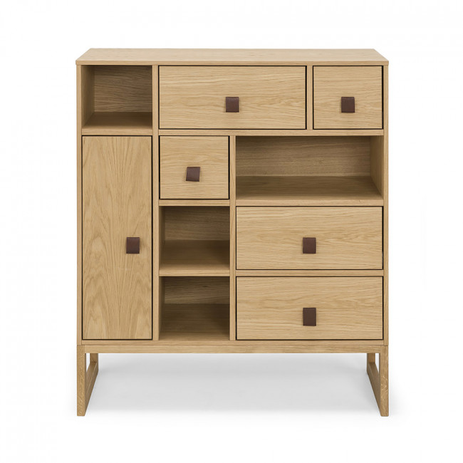 Buffet haut contemporain bois slussen by drawer - Buffet bois contemporain ...
