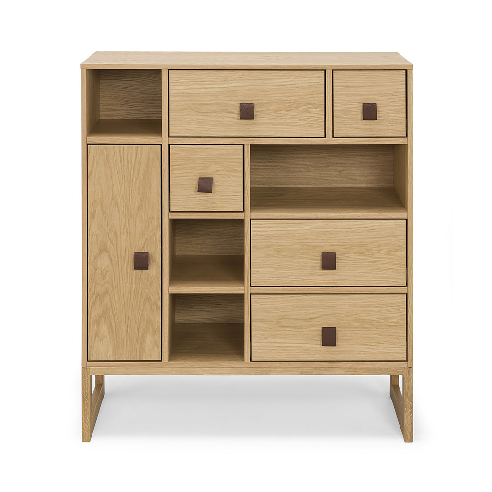 buffet haut contemporain bois slussen by drawer. Black Bedroom Furniture Sets. Home Design Ideas
