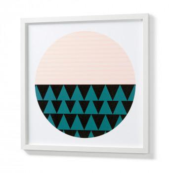 Affiche cercle graphique cadre blanc 53x53 Circle