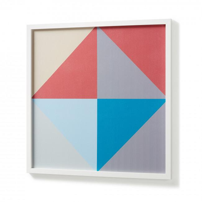 Affiche carrés graphiques cadre blanc 63x63 Squares