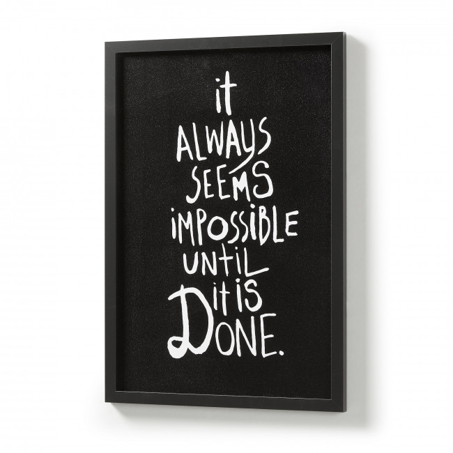 Affiche à message cadre noir 43x63 Impossible