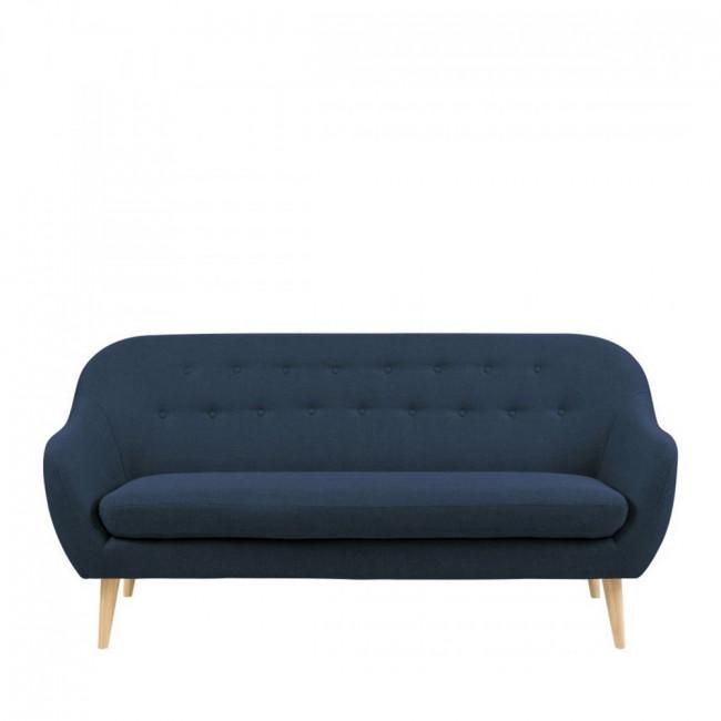 Canapé 3 places design scandinave Cirrus Bleu foncé