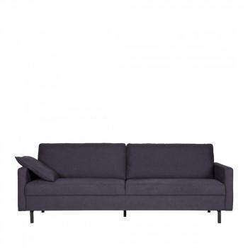 Canapé contemporain 3 places en tissu Noah Gris anthracite