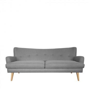 Canapé 3 places design scandinave Arcus gris clair