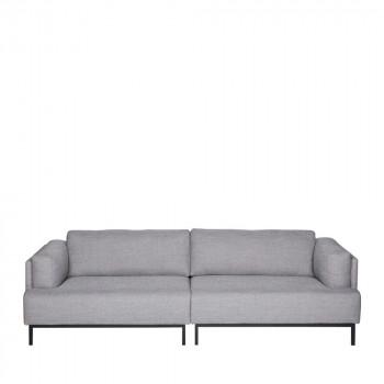 Canapé 3 places tissu et métal Uma Gris clair