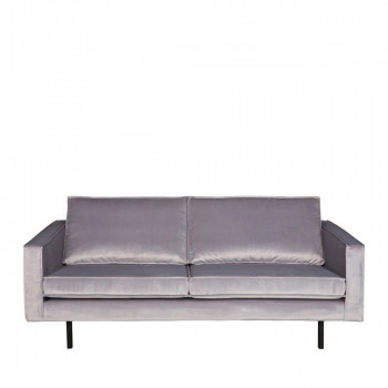 Canapé velours 3 places Velvet Bronco Gris clair