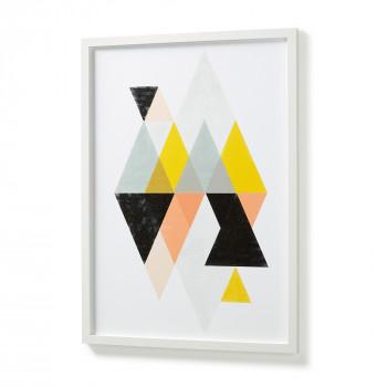 Affiche graphique colorée cadre blanc 53x73 Colorful